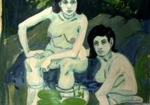 Two Figures with Lilies 1967