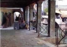 Venetian Market Scene 1907