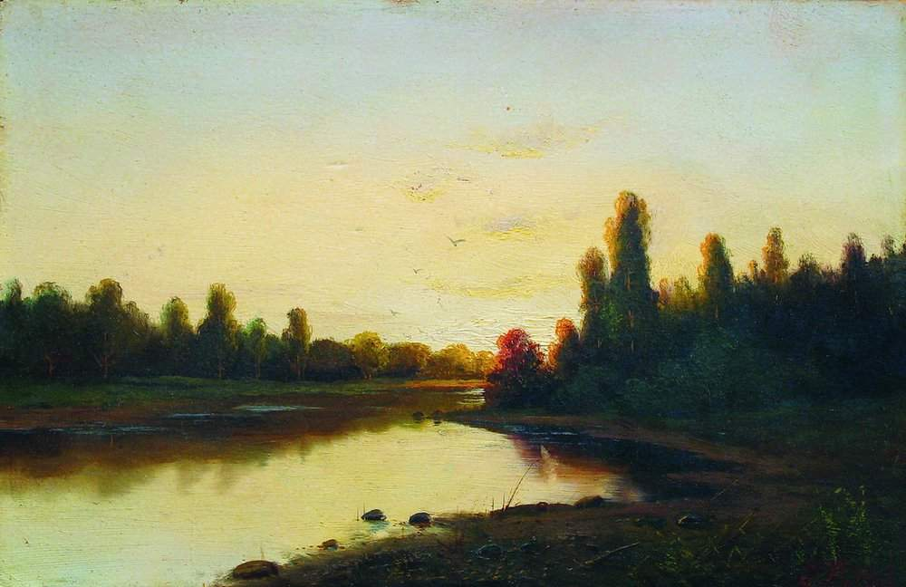 """Закат на реке"""