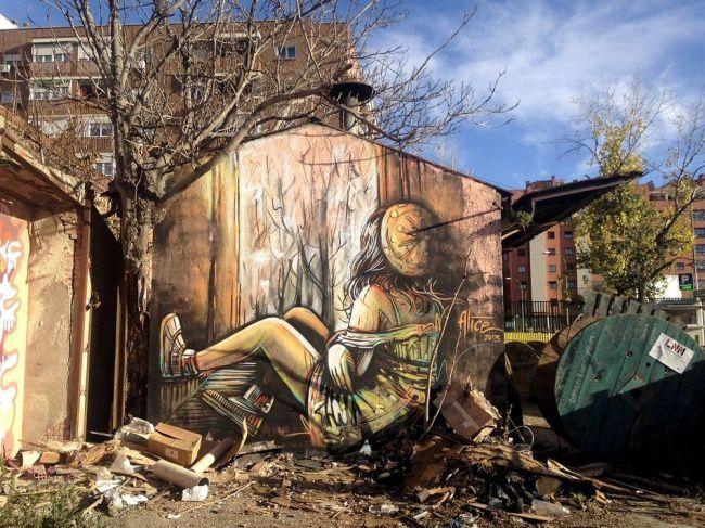 Alice Pasquini's Art, Мадрид, Испания