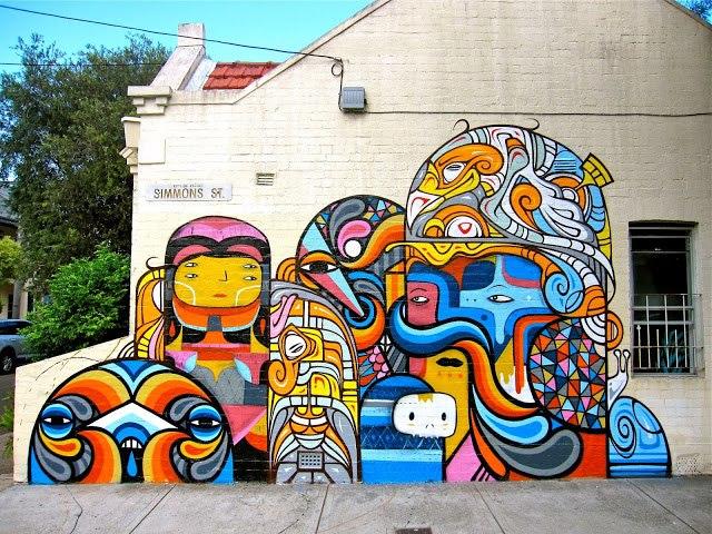 Beastman x Phibs x Creepy New Mural, Сидней, Австралия