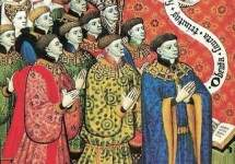 Miniature of the Earl of Westmorland with His Twelve Children, Братья Лимбург