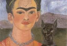Автопортрет с портретом Диего на груди и Марией между бровей