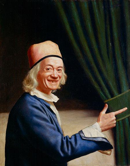 Жан-Этьенн Лиотар. «Автопортрет (Лиотар смеющийся)», 1770, 84*74 см.