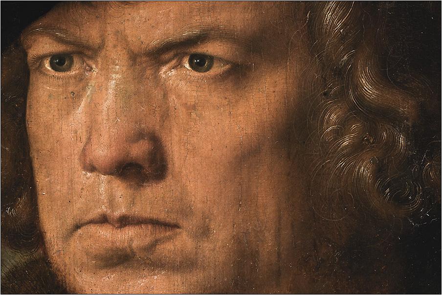 Альбрехт Дюрер «Потрет неизвестного». Фрагмент. 1521 год. Музей Прадо, Мадрид.