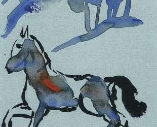 Голубой конь — Давид Бурлюк
