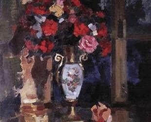 Букет бумажных роз — Константин Коровин