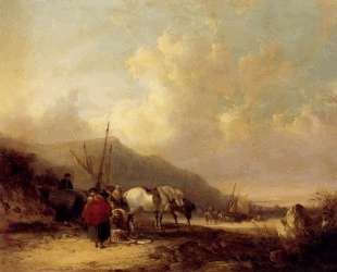 A Busy Beach Scene — Уильям Шайер