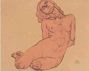 A crouching woman — Коломан Мозер