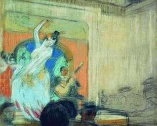 Танцовщица в кабаре — Борис Кустодиев
