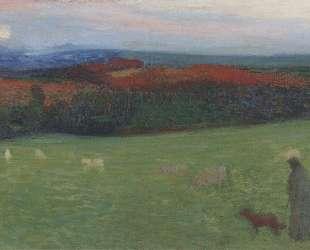 A Field with Figure — Анри Мартен