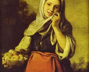 A Girl with Fruits — Бартоломе Эстебан Мурильо