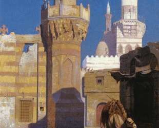 A Hot Day in Cairo (front of the Mosque) — Жан-Леон Жером