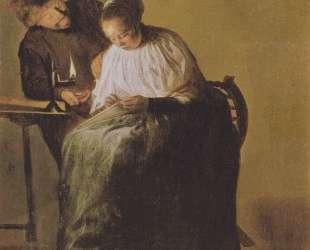 A man offers a young girl money — Юдит Лейстер