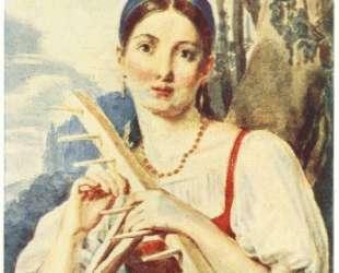 A Peasant Woman with a Rake — Алексей Венецианов