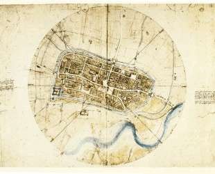 A plan of Imola — Леонардо да Винчи