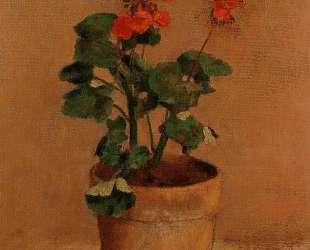 A Pot of Geraniums — Одилон Редон