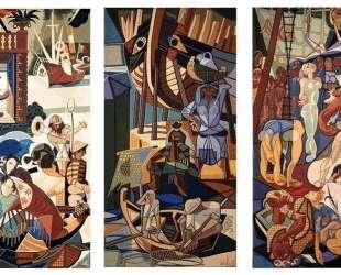 A Sunday in Lisbon, tapestry — Хосе де Альмада Негрейрос