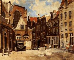 A Townscene With Children At Play, Haarlem — Корнелис Вреденбург