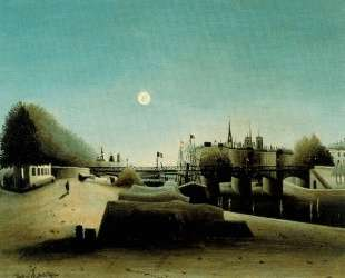 A View of the Ile Saint Louis from Port Saint Nicolas Evening — Анри Руссо