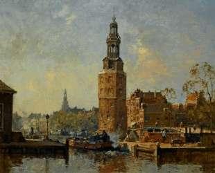 A View of the Montelbaanstoren Amsterdam — Корнелис Вреденбург