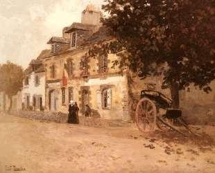 A Village Street in France — Фриц Таулов