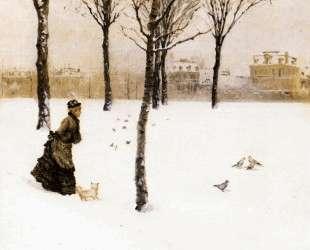 A Winter's Landscape — Джузеппе Де Ниттис