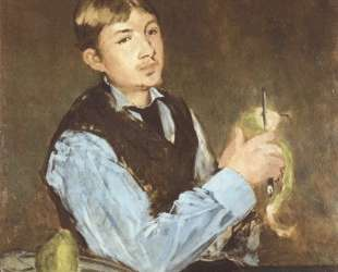 A young man peeling a pear (Portrait Of Leon Leenhoff) — Эдуард Мане