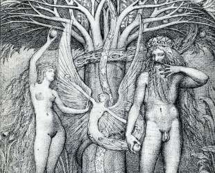 Adam and Eve under the tree of knowledge — Эрнст Фукс
