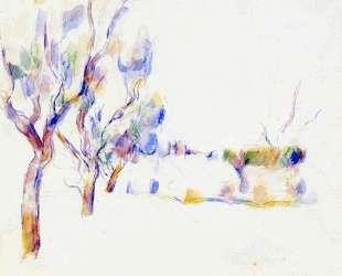 Almond Trees in Provence — Поль Сезанн