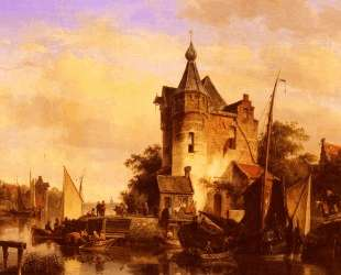 Along The Canal — Корнелис Спрингер