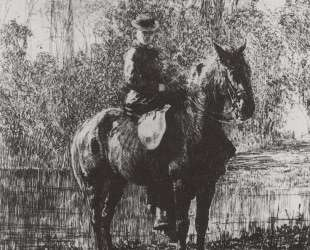 Амазонка на коне (Е. Д.Поленова) — Василий Поленов