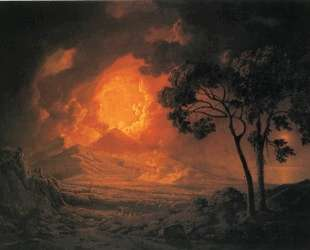 An Eruption of Mount Vesuvius, with the Procession of St. Januariu'-s Head — Джозеф Райт