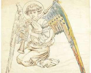 Angel with flutes — Ян Матейко