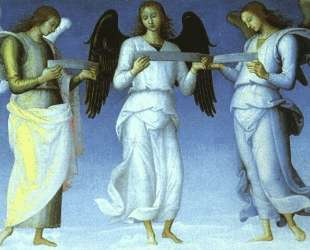 Ангелы (деталь) — Пьетро Перуджино