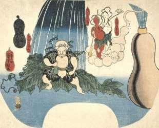 Animated Gourd — Утагава Куниёси
