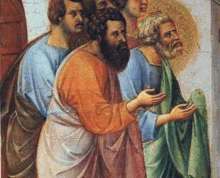 Appearance of Christ to the apostles (Fragment) — Дуччо