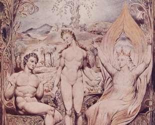Архангел Рафаель с Адамом и Евой — Уильям Блейк
