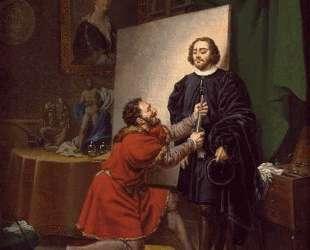 Aretino in the Studio of Tintoretto — Тинторетто