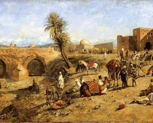 Arrival of a Caravan Outside The City of Morocco — Эдвин Лорд Уикс