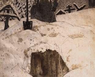 На могиле Прокла — Борис Кустодиев