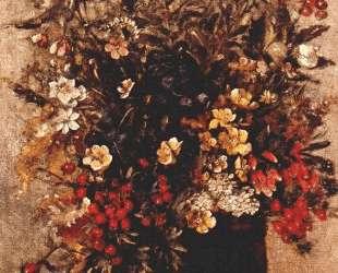 Осенние ягодыи цветы в коричневом горшке — Джон Констебл