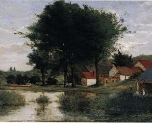 Осенний пейзаж (Ферма и пруд) — Поль Гоген