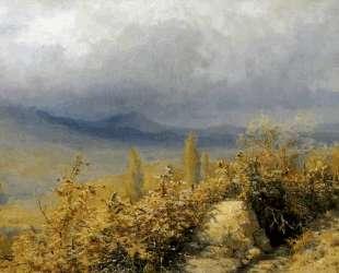 Осенний вид в Крыму — Григорий Мясоедов