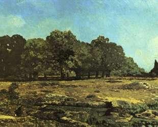 Avenue of Chestnut Trees near La Celle Saint Cloud — Альфред Сислей