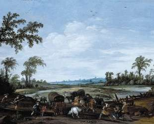 Bandits Attacking a Caravan of Travellers — Эсайас ван де Вельде