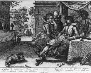 Banquet on a Terrace — Эсайас ван де Вельде