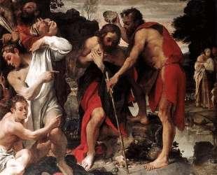 Baptism of Christ — Аннибале Карраччи