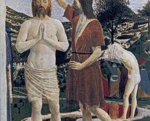 Крещение Христа (деталь) — Пьеро делла Франческа