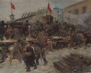 Barricade fighting in Red Presnya — Иван Владимиров